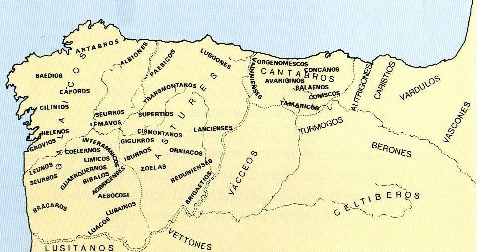 Resultado de imagen de Gallaecia. CASTROS mapa