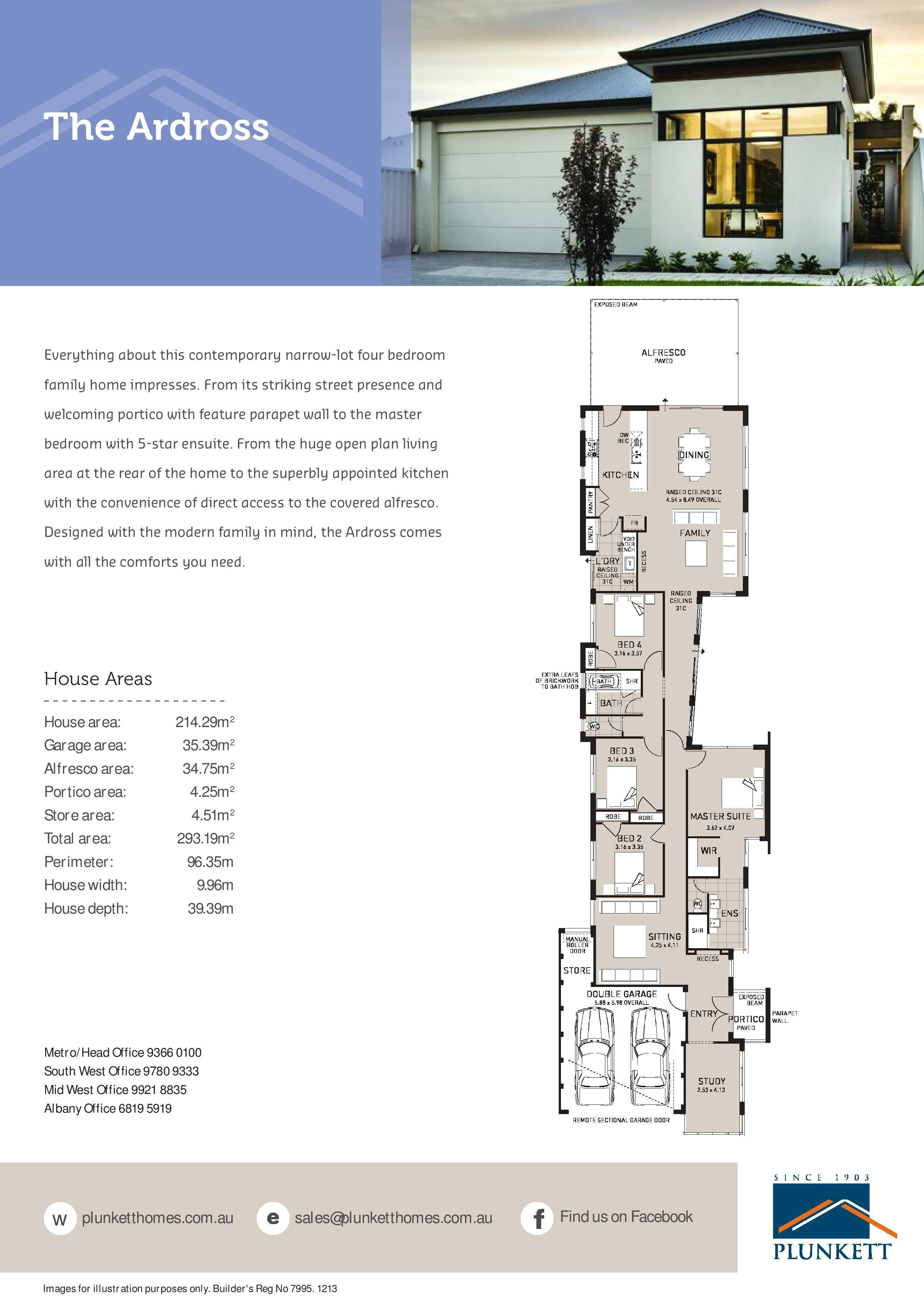 narrow lot home designs homes small perth house plans images duplex ...