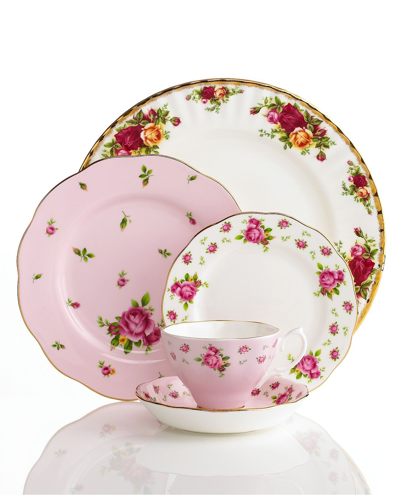 Royal Albert Dinnerware, Old Country Roses Mix and Match - Fine China - Dining & Entertaining - Macys