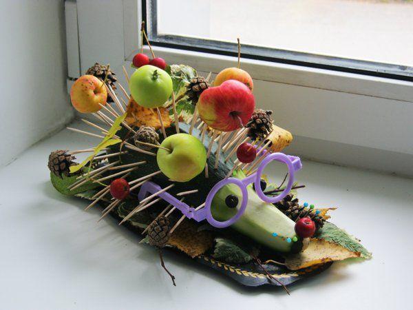 Картинки по запросу поделки из овощей и фруктов   Осенние ...