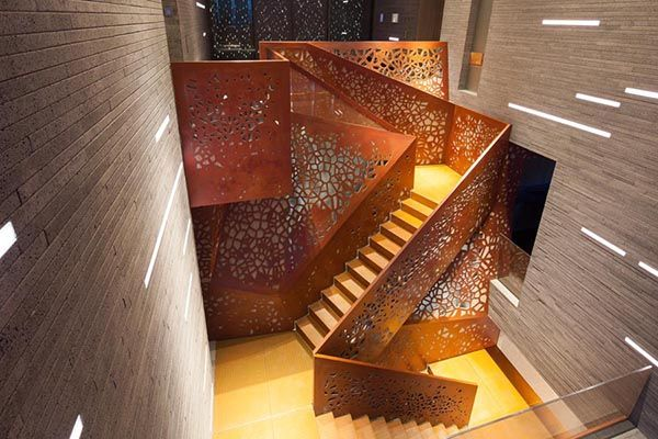 Arup's Perforated Copper Staircase