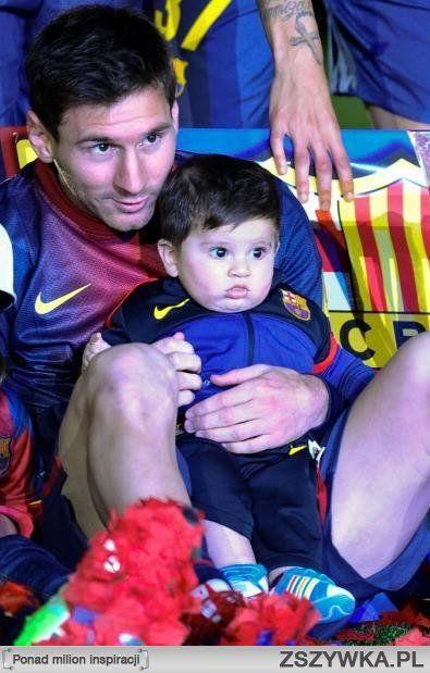 Leo Messi with his son Thiago. #messi #leomessi #soccer http://www.pinterest.com/TheHitman14/lionel-messi-%2B/
