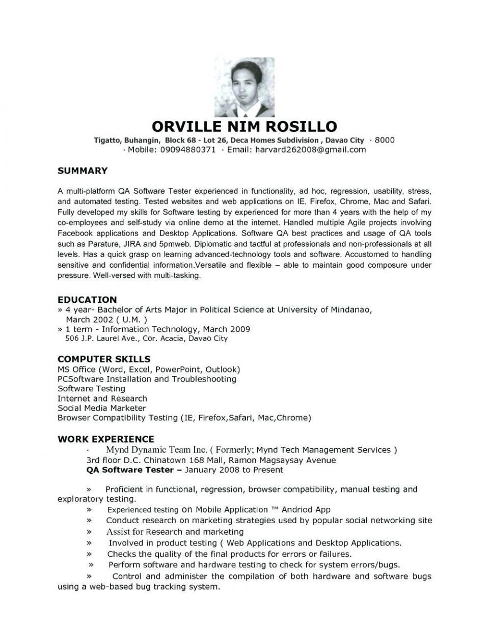 Web Services Testing Resume Fresh Qa Sample Resume Cv