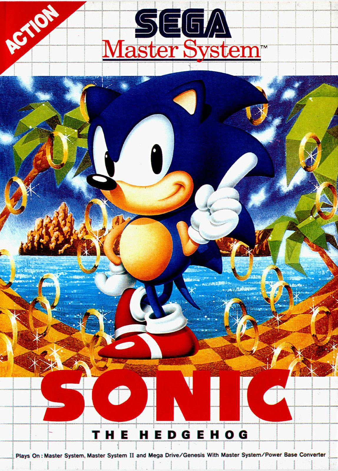 A4 Sega Master System Game Poster Sonic The Hedgehog Picture Print Gaming Art Sega Master System Sonic The Hedgehog Sonic
