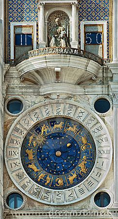 Photo of Famous clock in Venice stock image. Image of cultural – 18860733