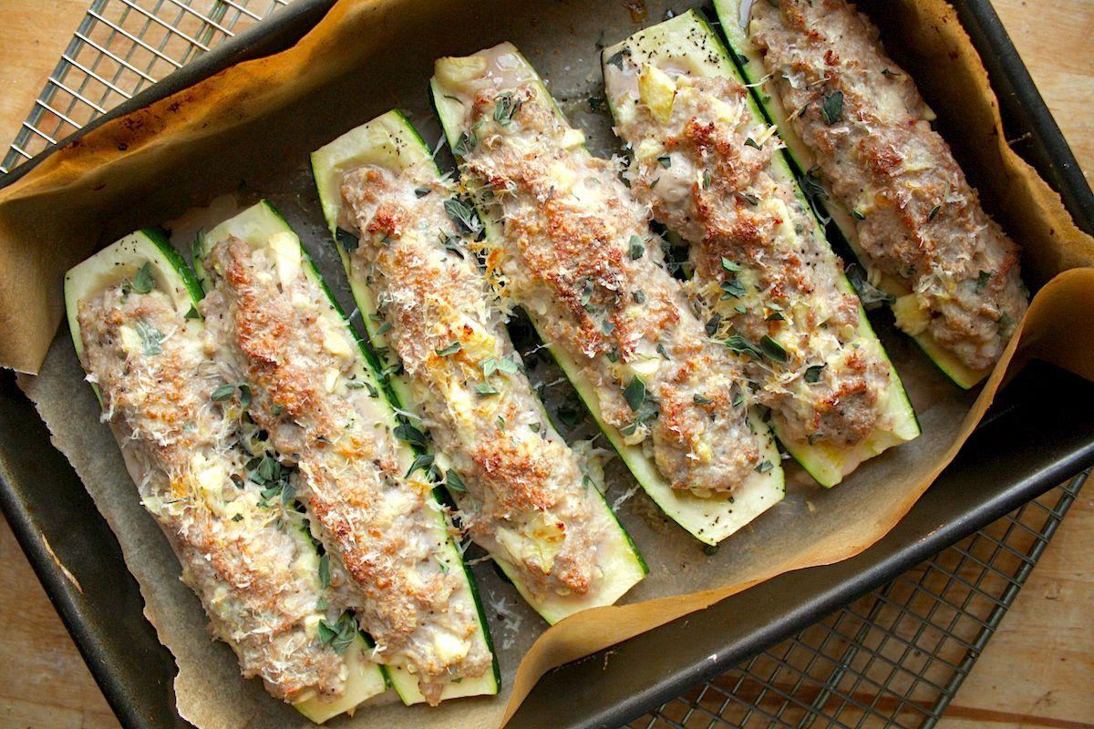 Turkey Stuffed Zucchini Boats Stuffed Zucchini Boats Zucchini