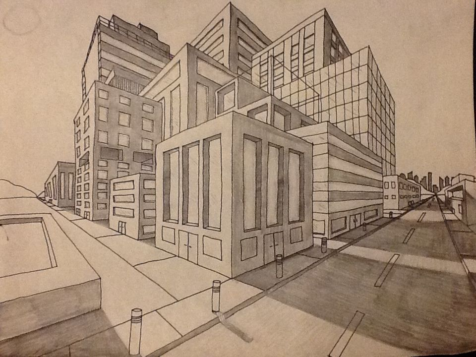 Perspective Drawings Of Buildings best 25+ perspective drawing ideas on pinterest | perspective