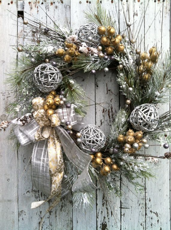 Silver Christmas Wreath.Pin On Winter