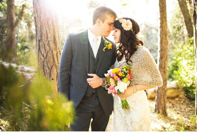 woodland wedding// love her boquet