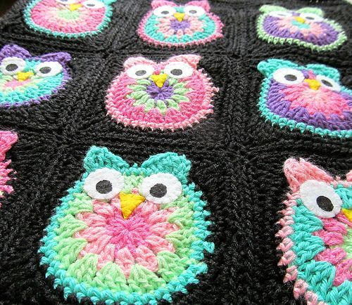 Crochet Owl Blanket Im Obsessed With These Crocheted Owls