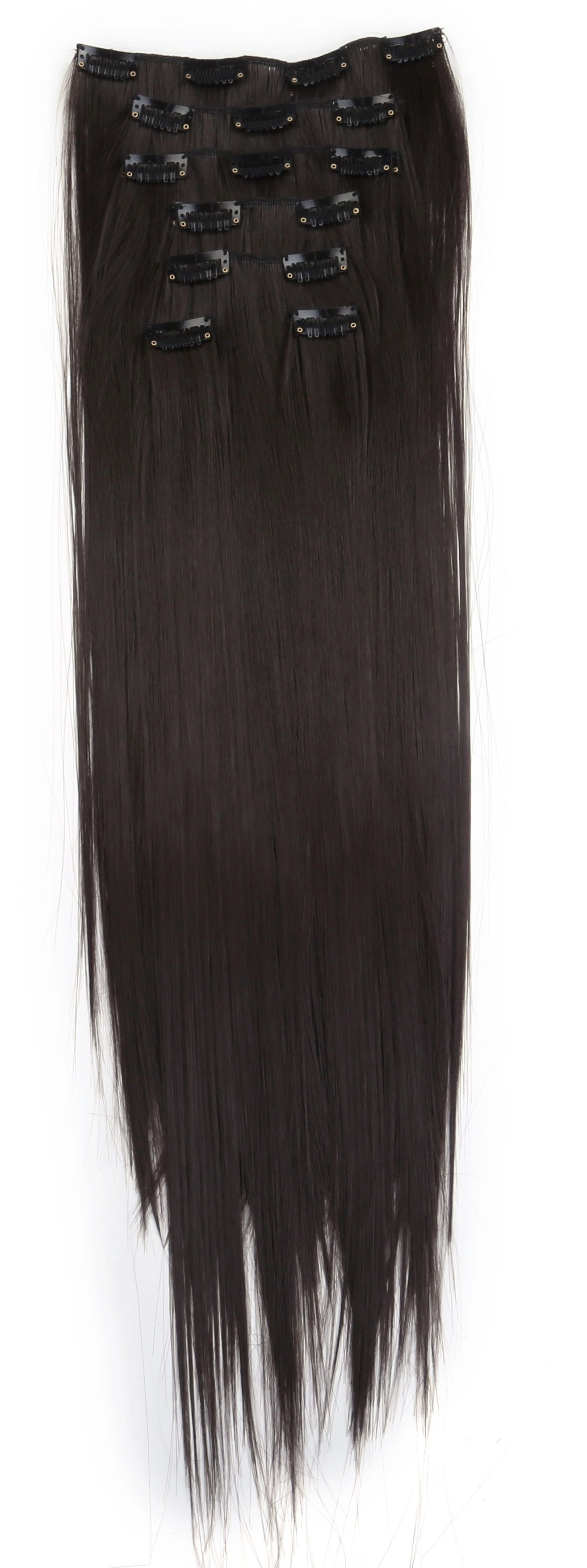 Synthetic hair extension color of 4 black hair extension