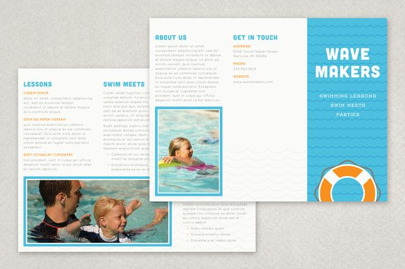 Swimming pool brochure template swim brochure template for Pool design templates