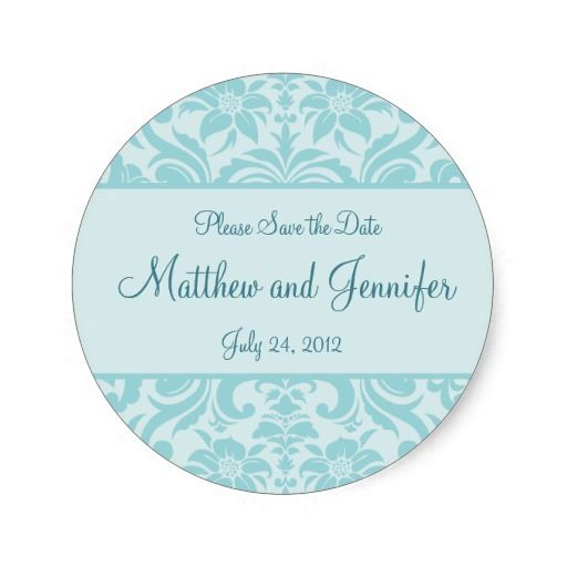 Wedding announcement save the date sticker round sticker