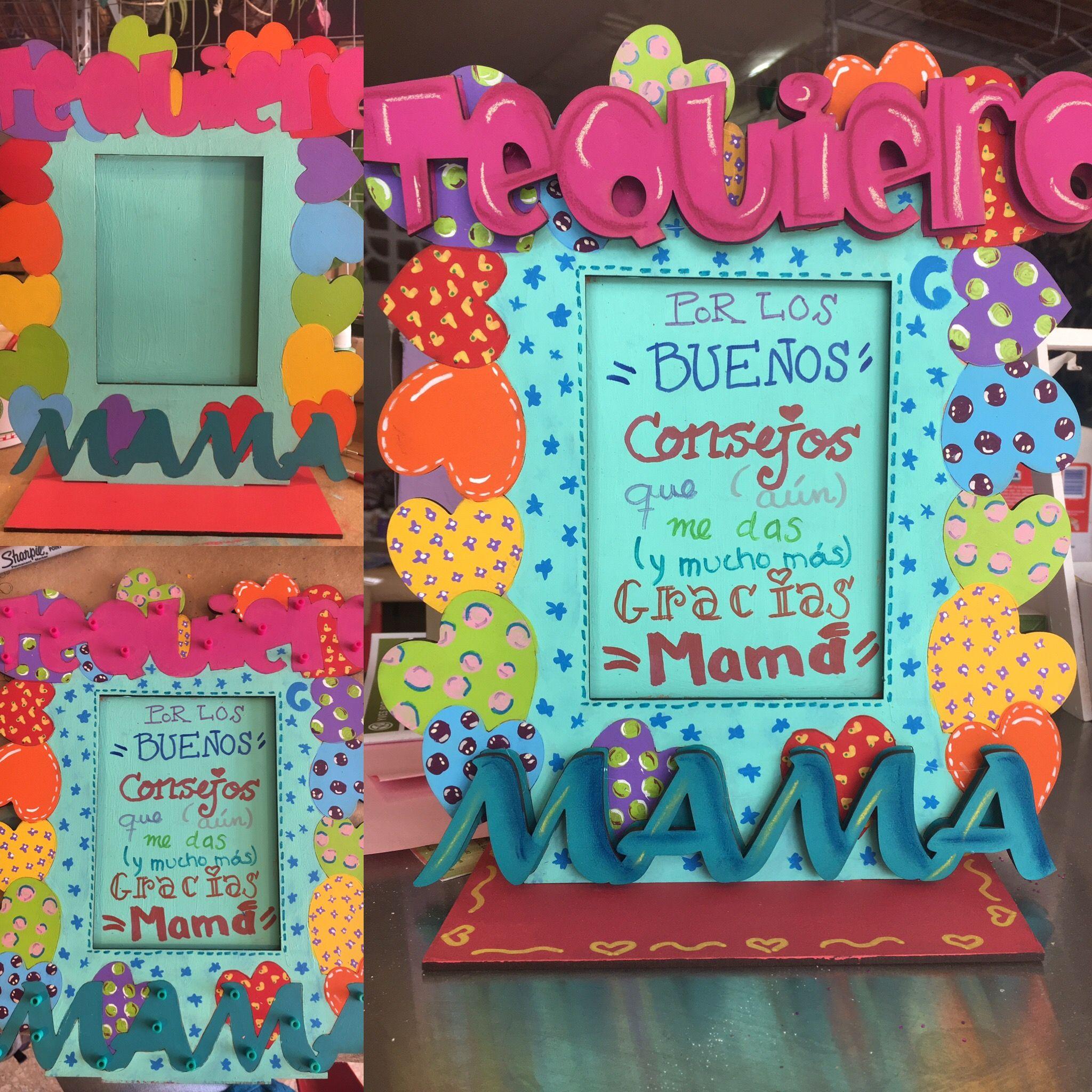 Portaretratos MDF pintados mano. Día de las Madres | Artesandrias ...