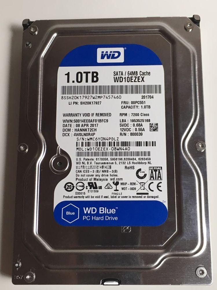 Western Digital Blue Wd10ezex 1tb Internal Hdd 7200rpm 3 5 Hard Disk Drive Hard Disk Drive Hard Disk Graphing Calculator