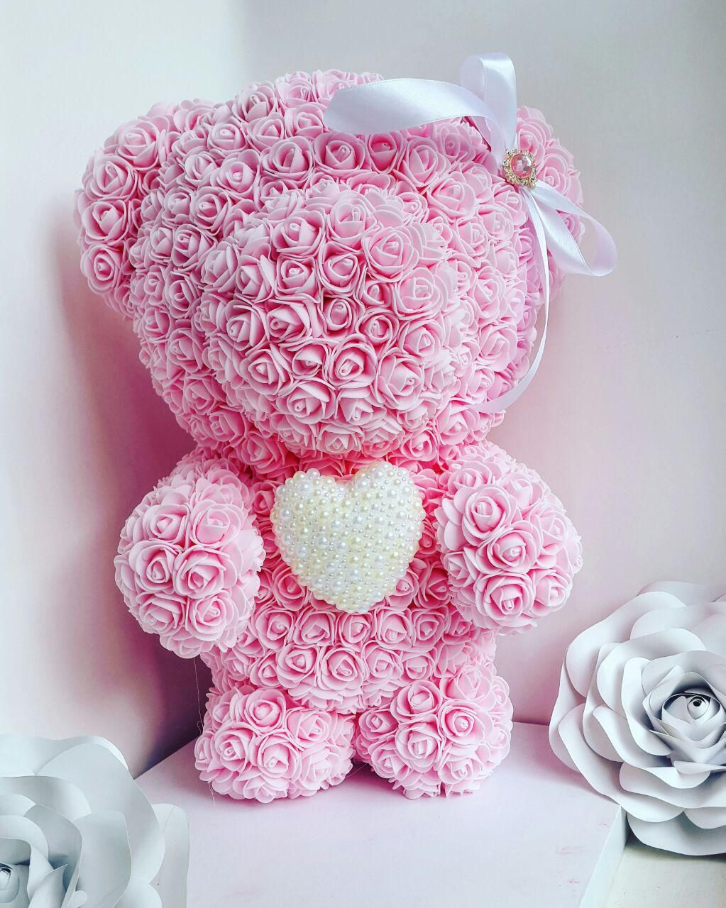 Rose Teddy Bear 17 8 Inch Forever Rose Teddy Bear Wedding Gifts Love Bear Flower Rose Bear Forever Rose Rose Flower Arrangements Flower Crafts