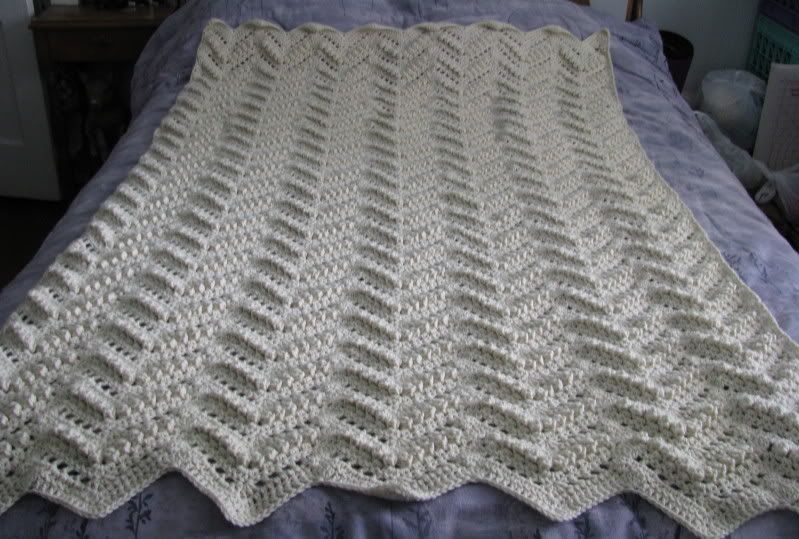 Double Crochet Afghan Free Pattern : Half Double Crochet Chevron Afghan Easy Ripple Afghan ...