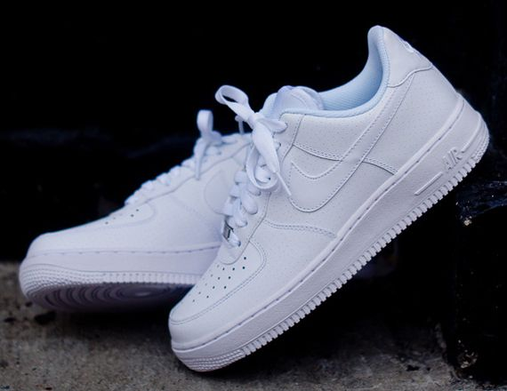 Authentic Nike Air Force One AF1 Raw Material All White Low Women Shoes And Men Shoes 315122 111 For Sale