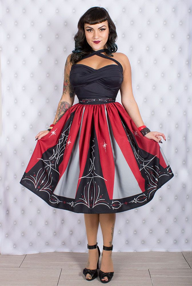 Hot Rod Pinstripe Limited Edition Skirt | Pin-Ups | Pinterest ...