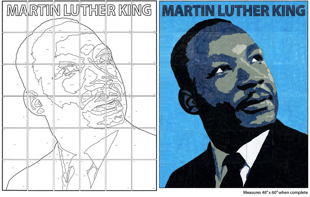 Label Murals Search Results Art Projects For Kids Martin Luther King Art Projects Martin Luther King Art Black History Month Art Martin luther king jr template