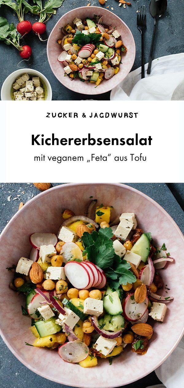 """Sommerlicher Kichererbsensalat Mit Veganem """"Feta"""" Sommerlicher Kichererbsensalat mit veganem """"Feta"""" Vegan Coleslaw vegan coleslaw recept"""
