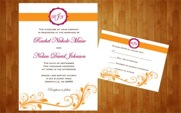 colors customized for wedding reception invitation template party