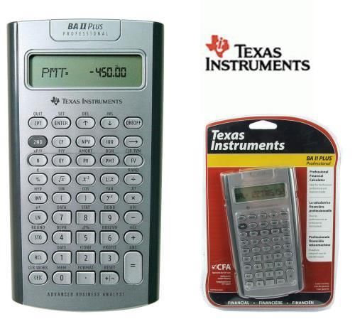 Texas Instruments Professional Financial Calculator BA II Plus Pro - financial calculator