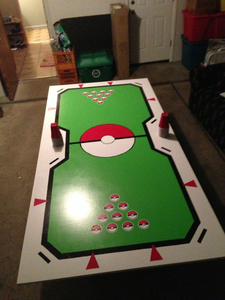 Beer pong table dimensions - Pokemon Stadium Beer Pong Table Via Reddit User Mrfido