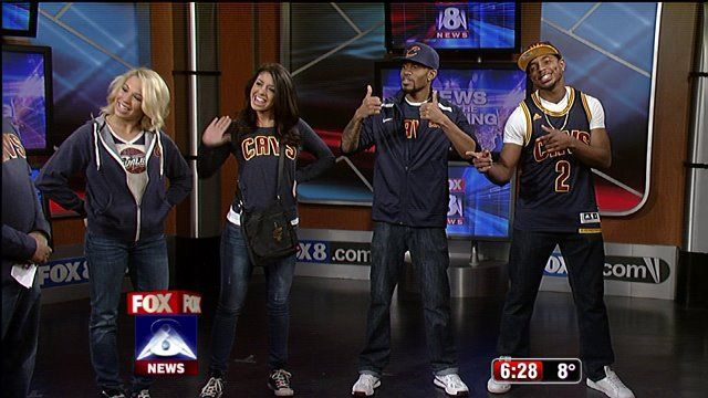The Cavs are asking fans to wear navy blue to the game tonight in honor of the new navy blue merchandise that is now available. Fox 8's Wayne Dawson & Stacey Frey got a first hand look at the n...