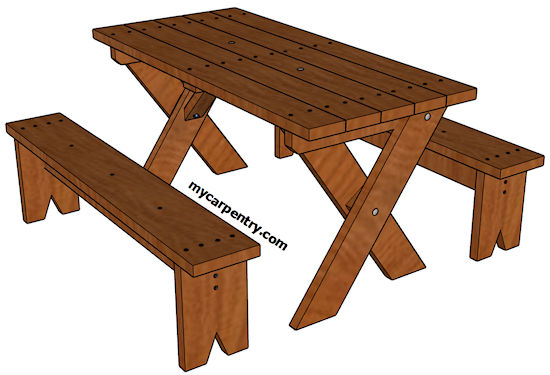 Picnic Table Plan Picnic Table Plans Picnic Table Table Plans