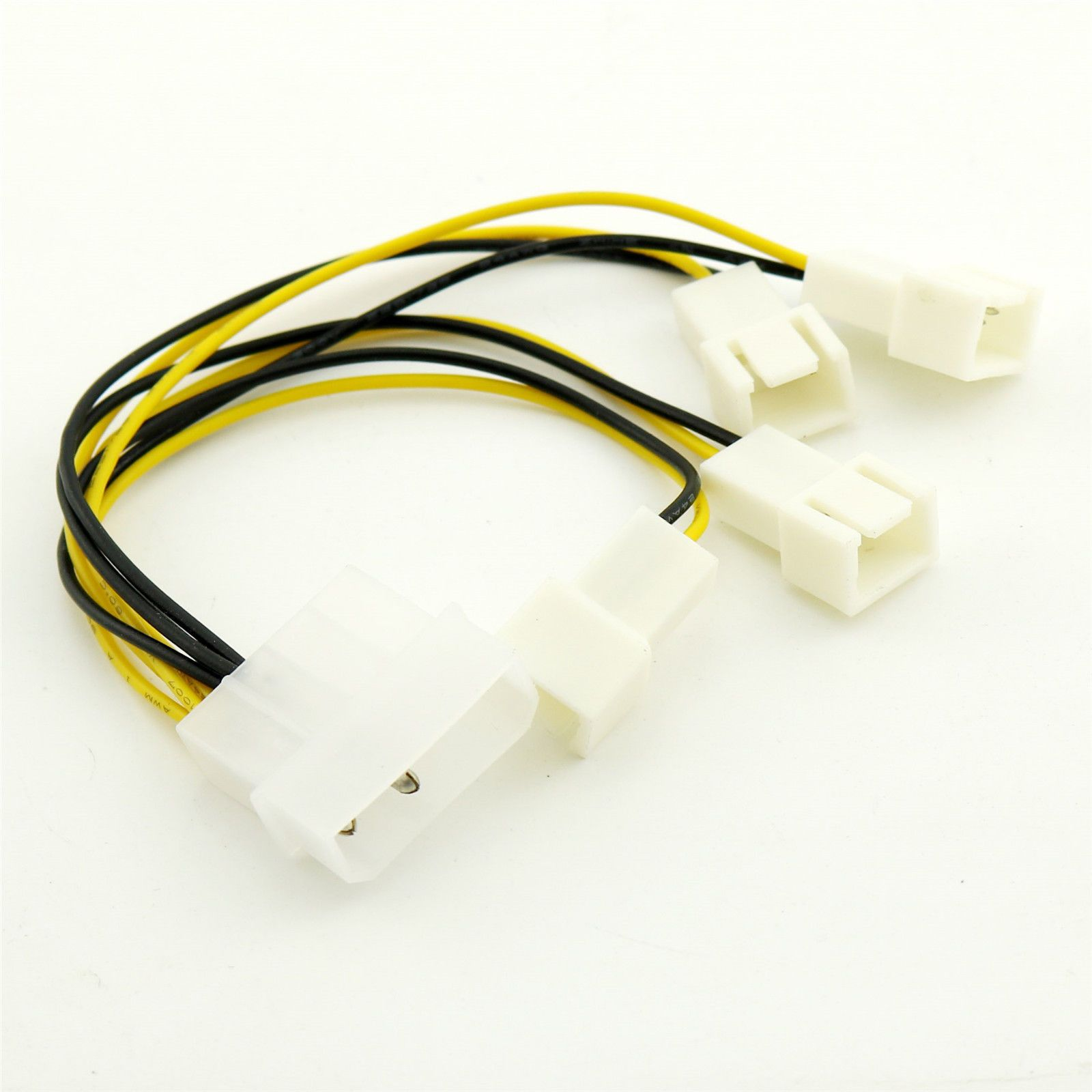 1 39 1pc molex male to 4 way 3 pin computer power multi fan splitter adapter [ 1600 x 1600 Pixel ]