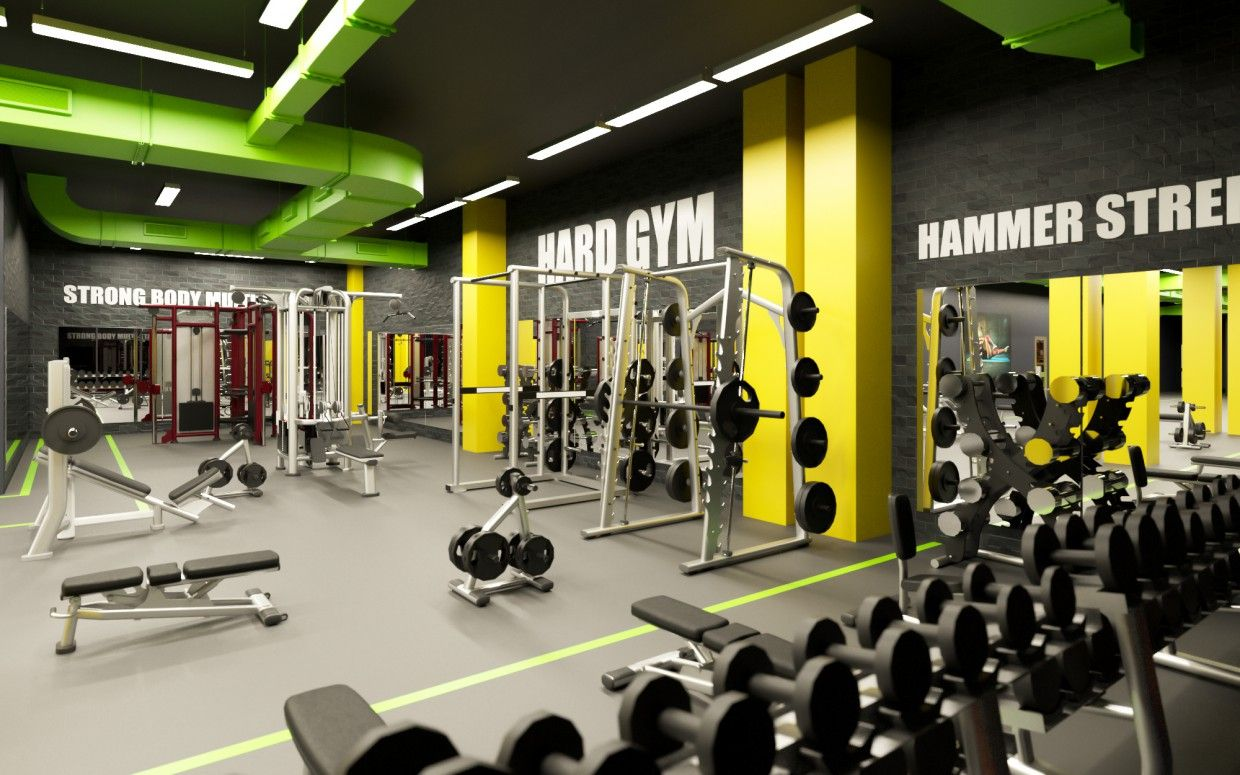 The Network Of Modern Elite Fitness Clubs In Murmansk Called Fresh Life Health Beauty Strength And Op In 2021 Gym Interior Commercial Gym Design Gym Design Interior