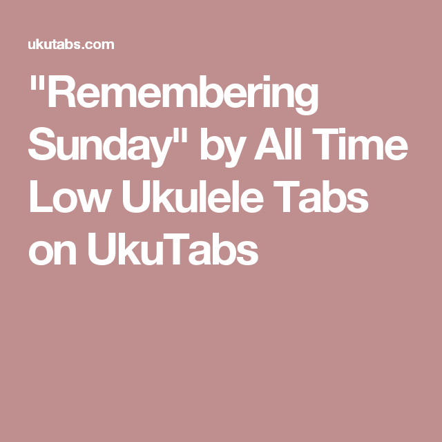 Remembering Sunday\