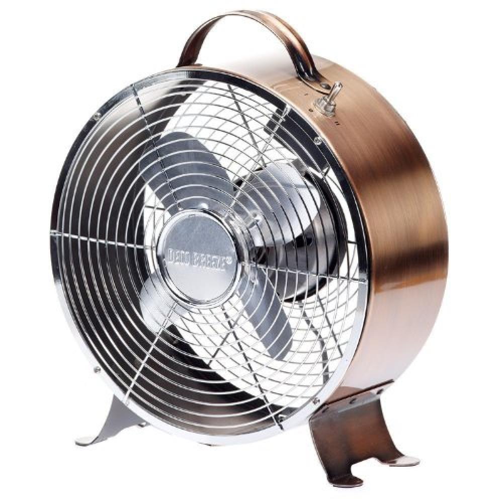 Retro Design Decorative Cast Copper Metal Table Fan Keep Cool Breeze Metal Fan Retro Table Table Fan