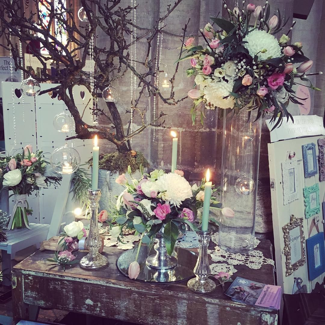 The wonderful @greenhouseflorists are here at our stunning #weddingfair at @riponcathedral until 4pm