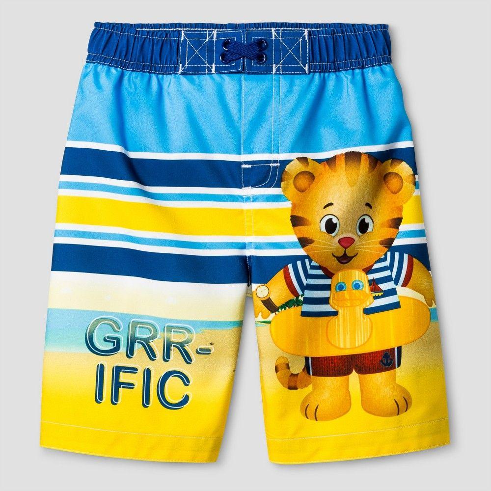 Toddler Boys' Daniel Tiger Swim Trunks - Blue 3T