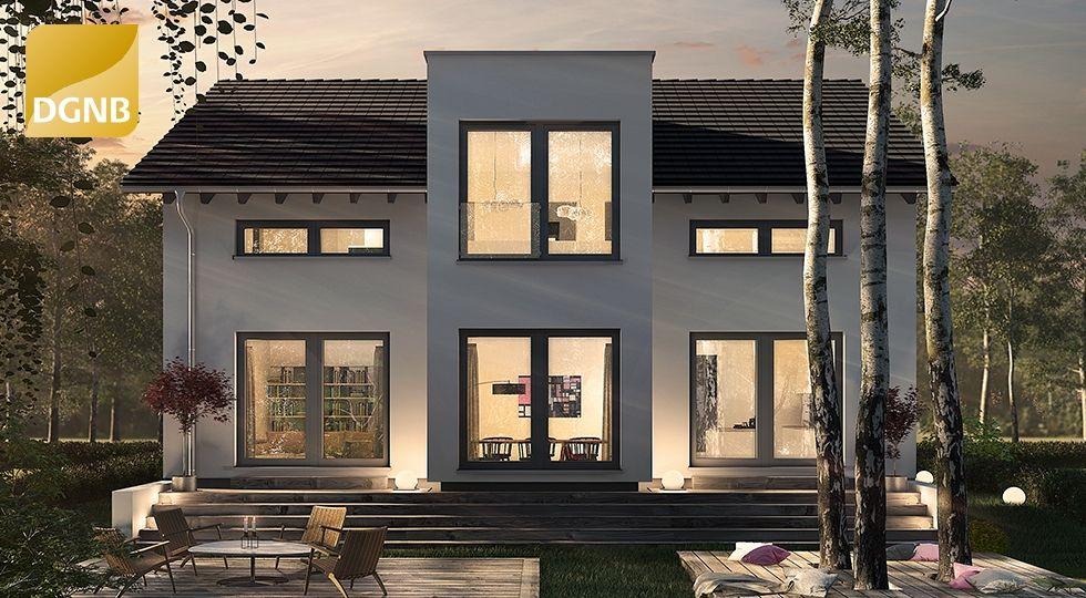Fabuleux Hausentwurf mit XL-Flachdach-Erker #OKAL | Hausansichten außen  GV18