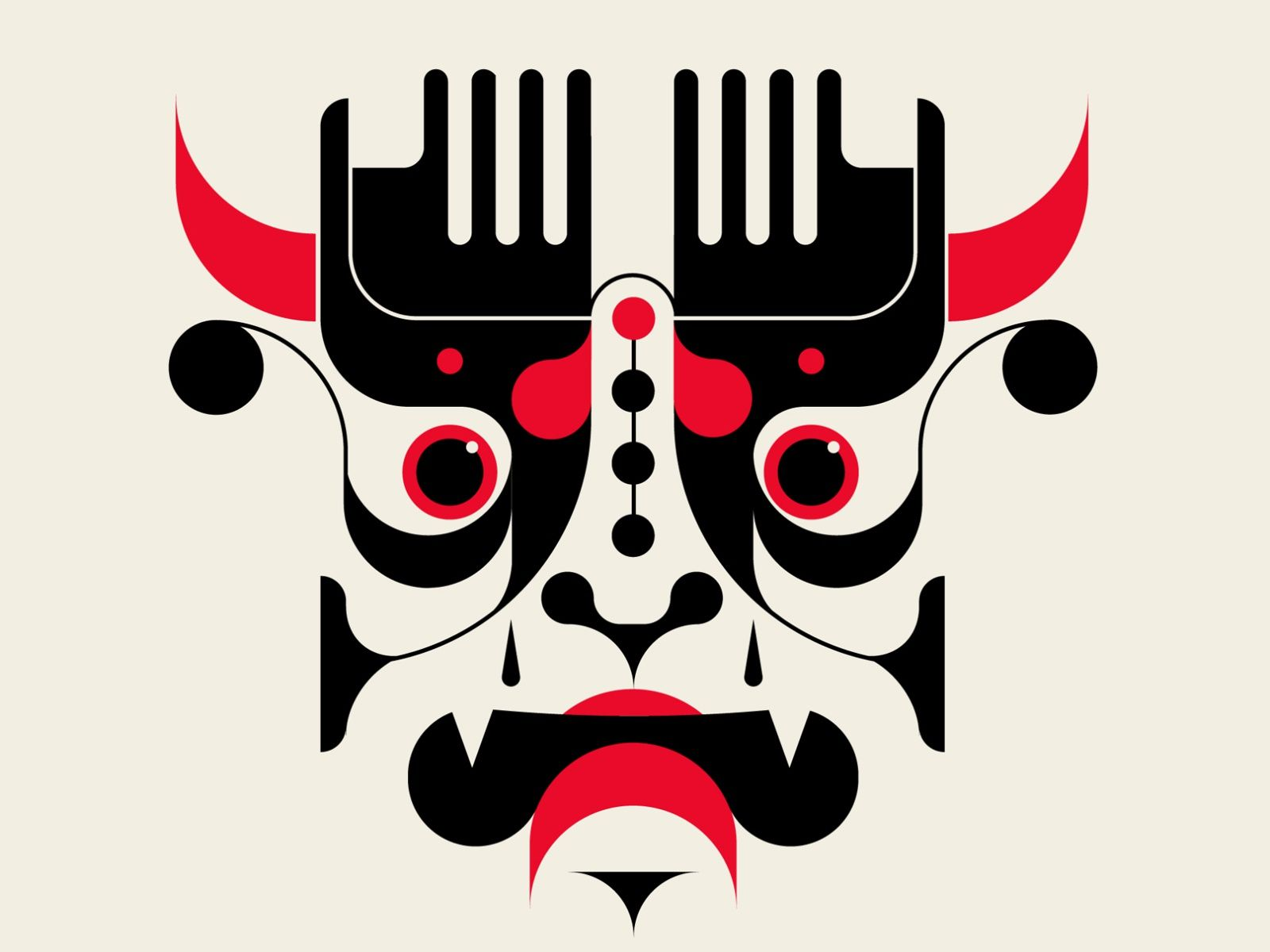 Kabuki Style Design Of Man Poster Image by Shutterstock