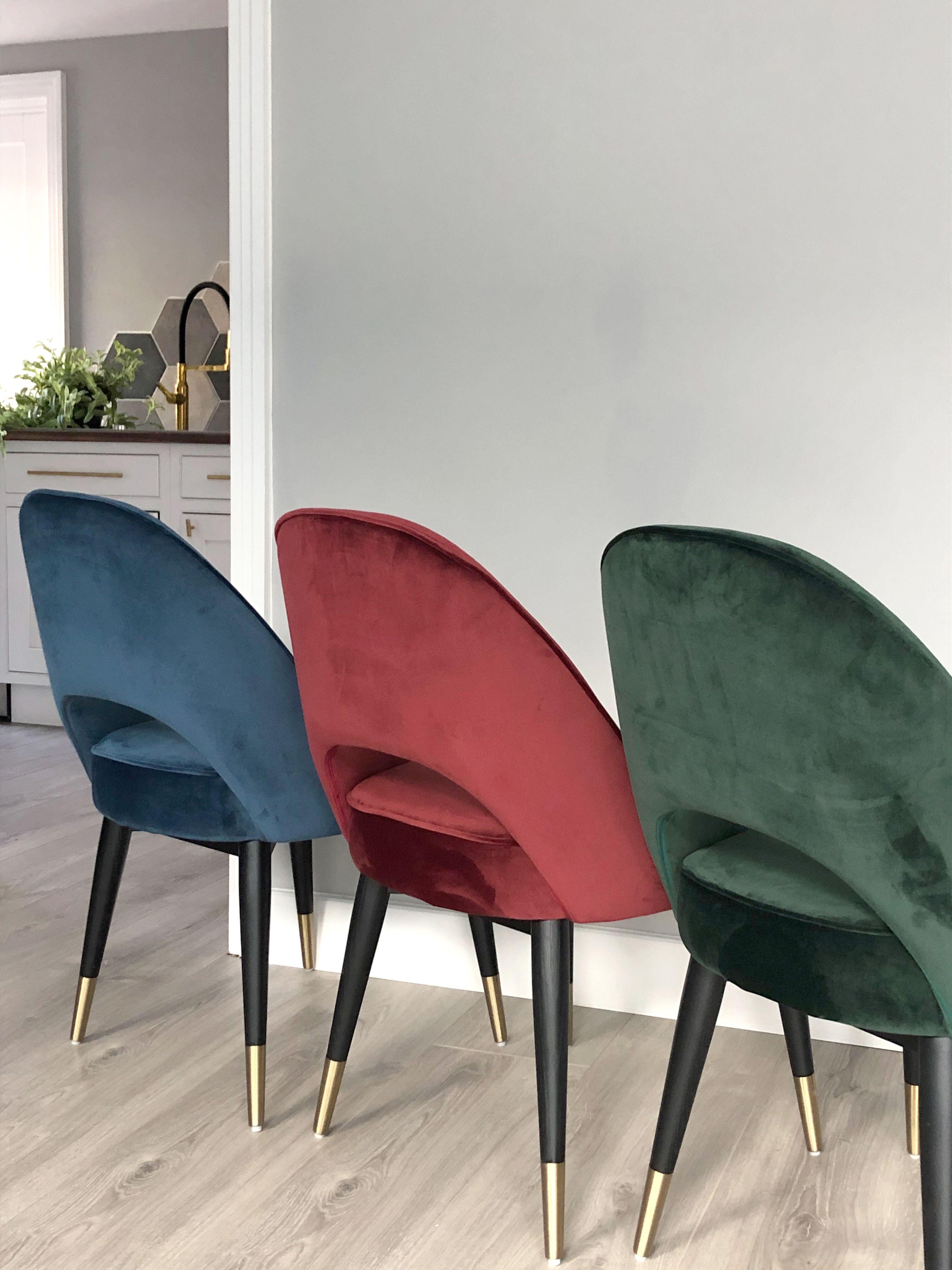 Outstanding Clover Sapphire Blue Velvet Dining Chair In 2019 Dining Uwap Interior Chair Design Uwaporg