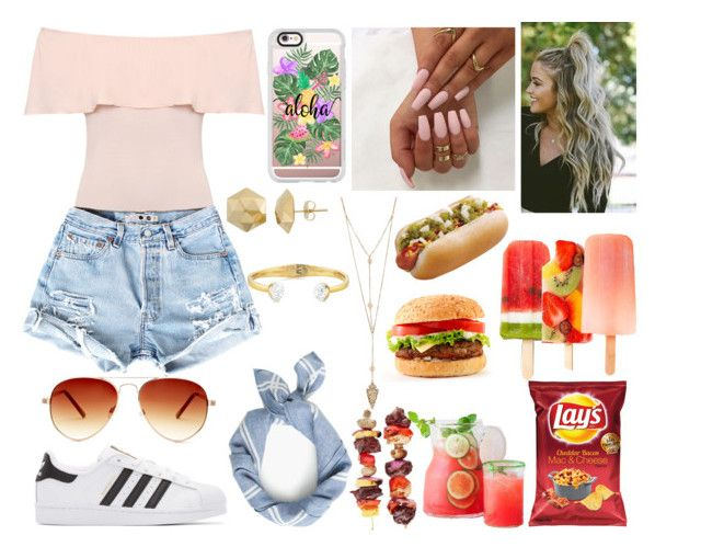Family Cookout by emily5302 on Polyvore featuring polyvore, fashion, style, WearAll, adidas Originals, J.Crew, Casetify, Steve Madden and clothing