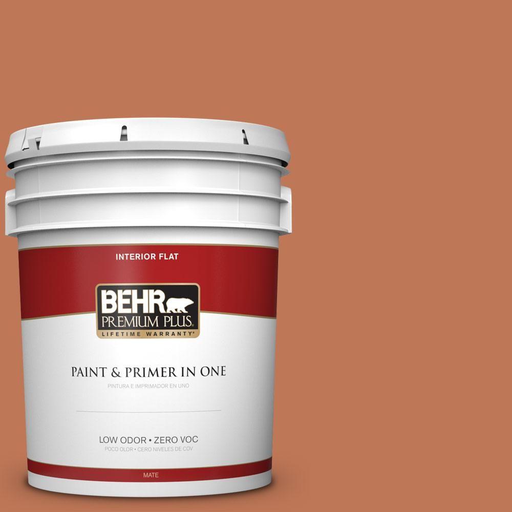 BEHR Premium Plus 5 gal. #PPU3-01 Moroccan Sky Zero VOC Flat Interior Paint