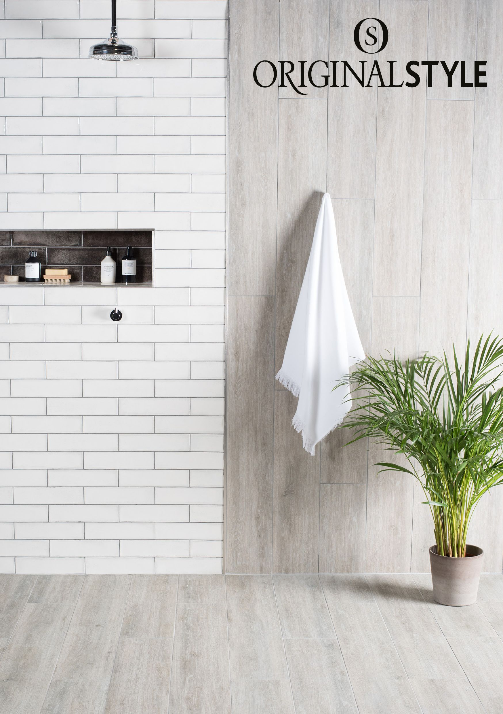 Alamo Ash Paired With Montblanc White From Original Style S Tileworks Collection Use The Combination Of The Smoot Wood Effect Tiles Style Tile Tiles