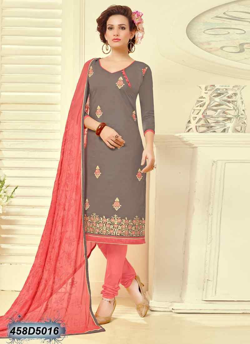 4fbb3aee54 Desirable Light Brown Coloured Cambric Cotton Unstitched Salwar Suit ...