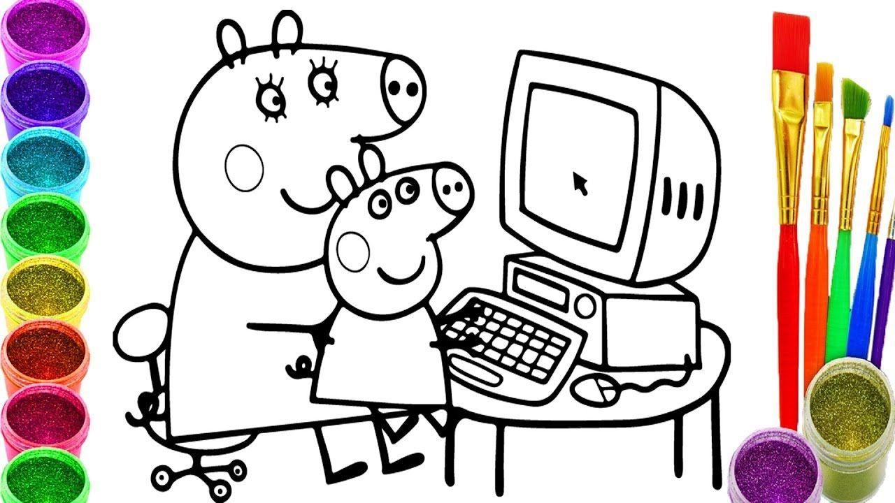 Como Dibujar y Colorear Un Peppa Pig de Arco Iris - Videos Para ...