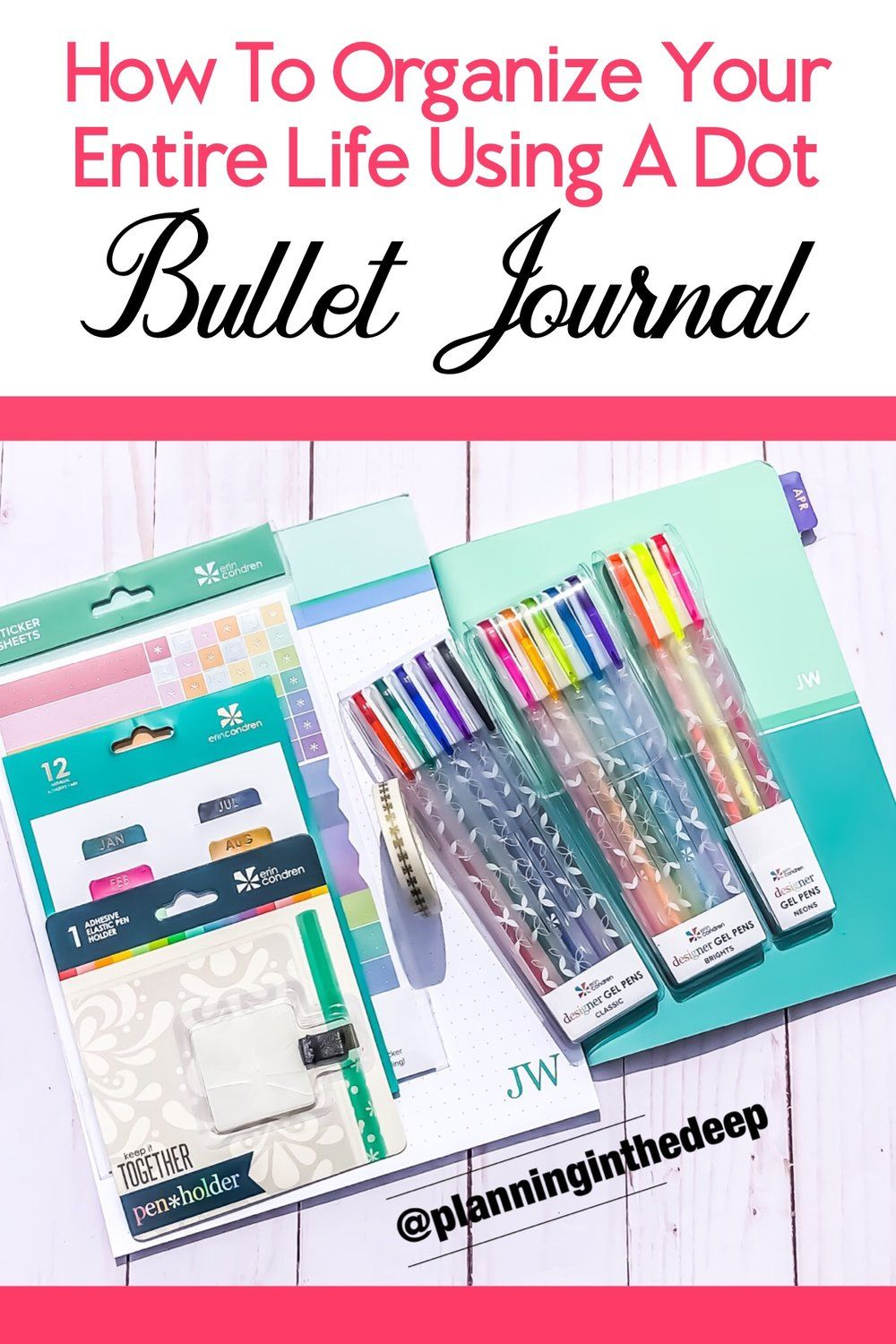 8 Ways To Bullet Journal With The Erin Condren Dot Grid
