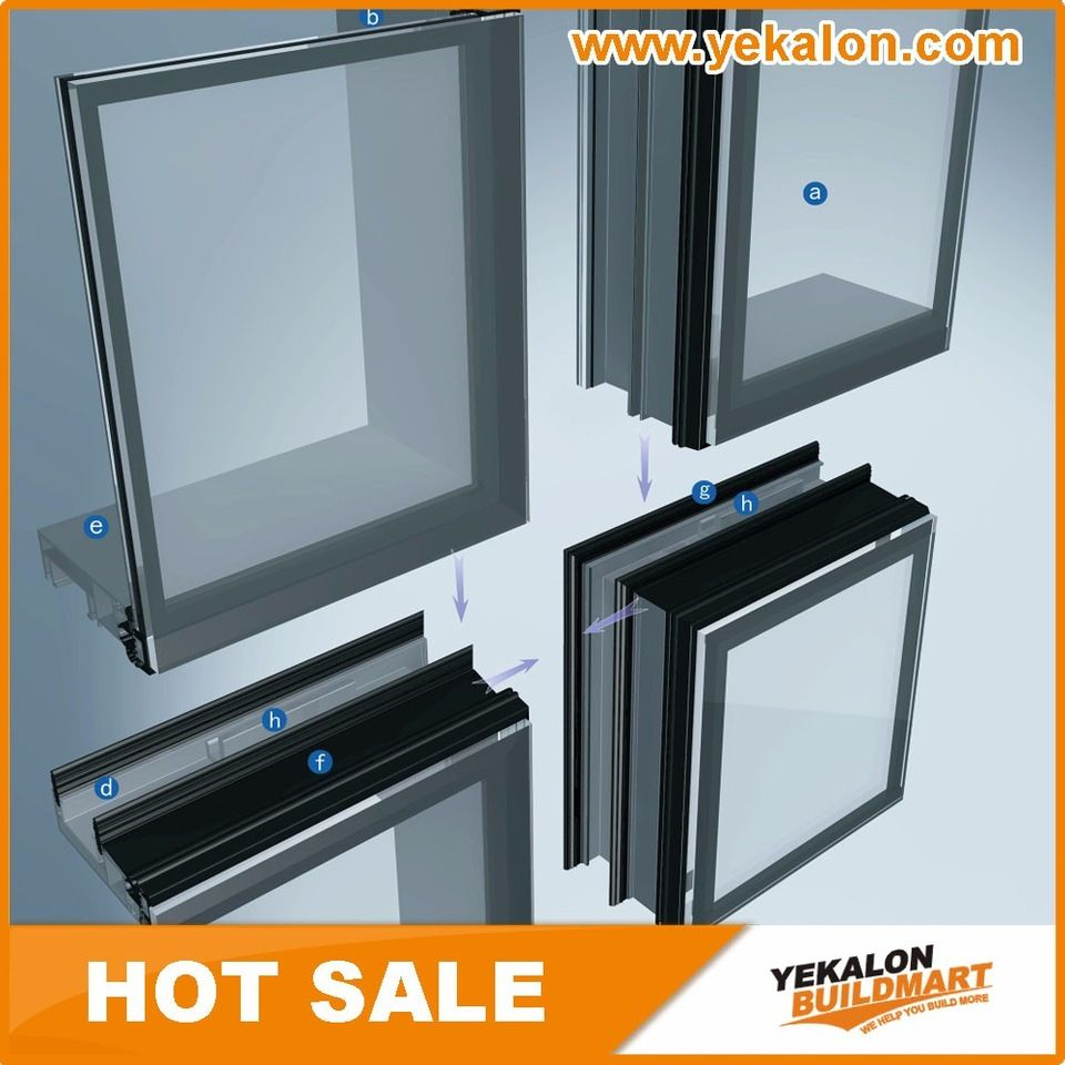 Wholesale Direct Price Unitized Aluminum Curtain Wall Insulated