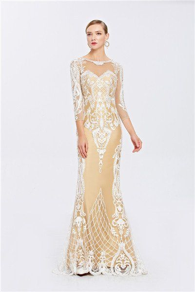 3cfc704f3675 Inmansa bouquet champagne mermaid formal ladies party dress prom evening  gown dresses