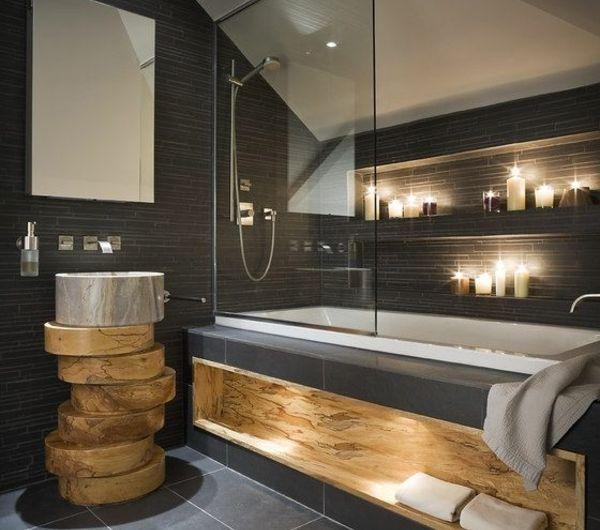 Une Salle De Bain Sous Pente Ou Sous Combles En 52 Photos Avec Images Idee Salle De Bain