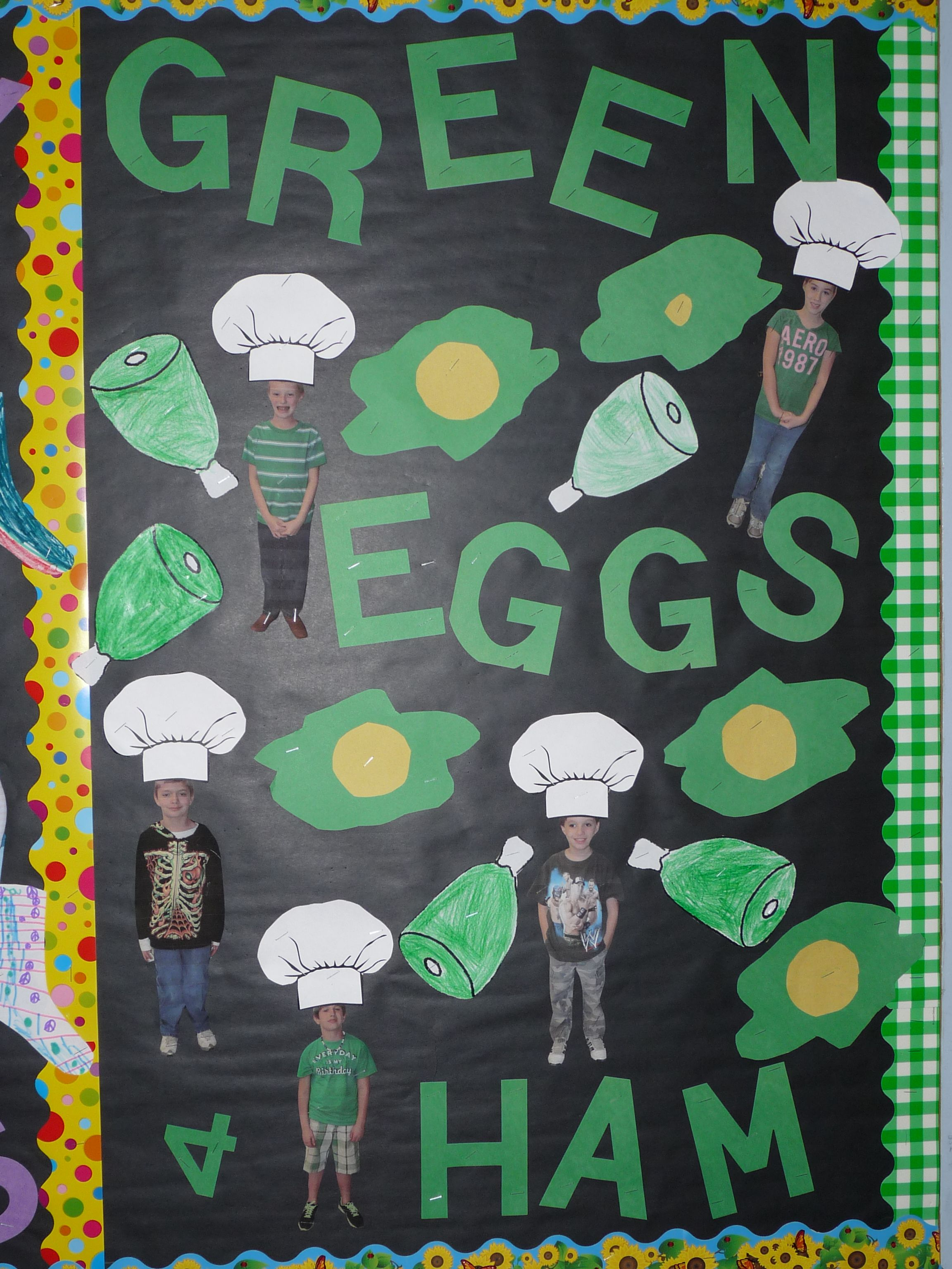 Green Eggs and Ham Bulletin Board by Sonjah