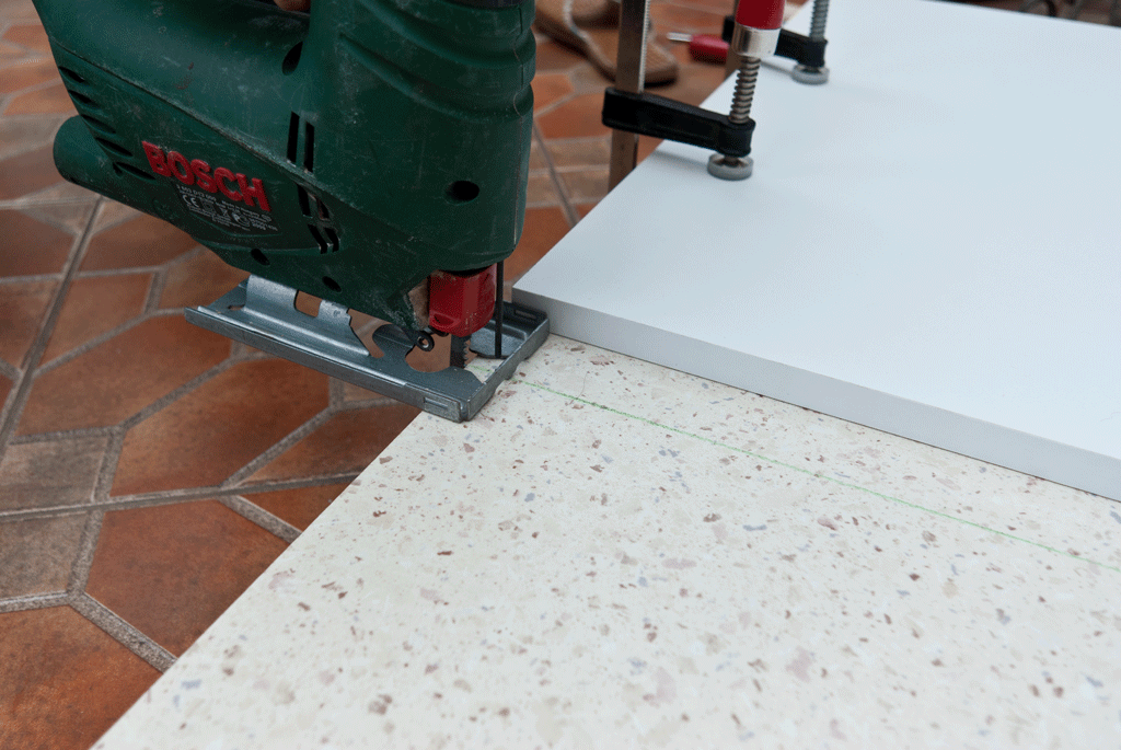 How to cut a laminate countertop | Around the House | Pinterest ...